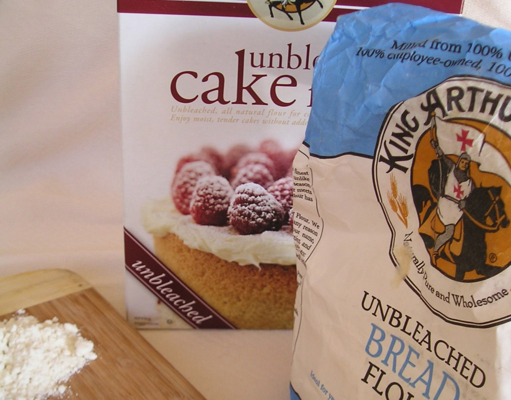 how to make cake flour from bread flour