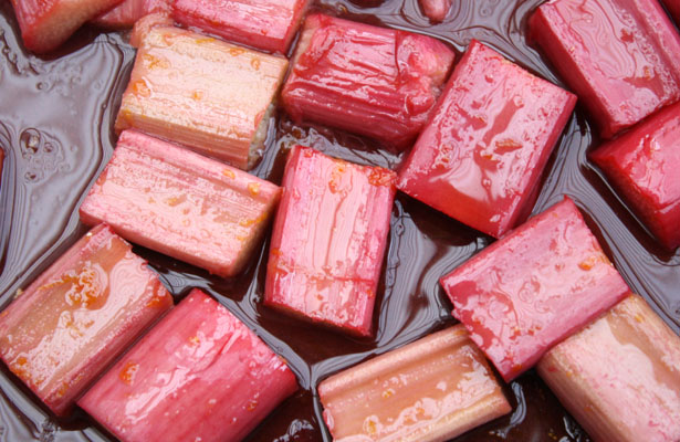Rhubarb roasted horizontal